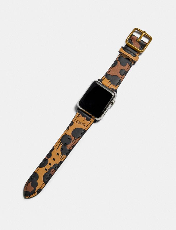 Coach Apple Watch® Strap With Wild Beast Print Black Multi Women Accessories Watches Alternate View 1