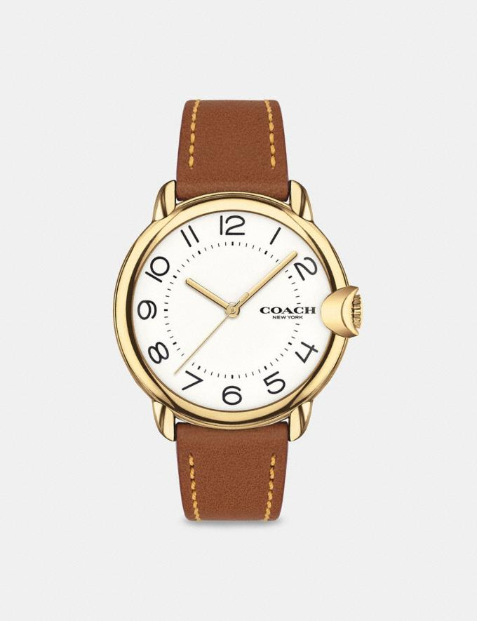 Coach Arden Watch, 36mm Saddle Women Accessories Watches