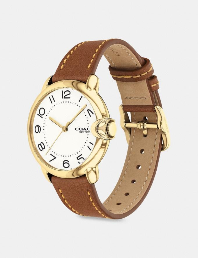 Coach Arden Watch, 36mm Saddle Women Accessories Watches Alternate View 1