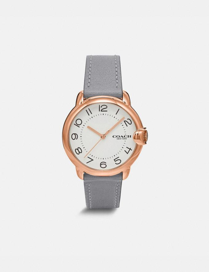 Coach Arden Watch, 36mm Granite New Women's New Arrivals Accessories