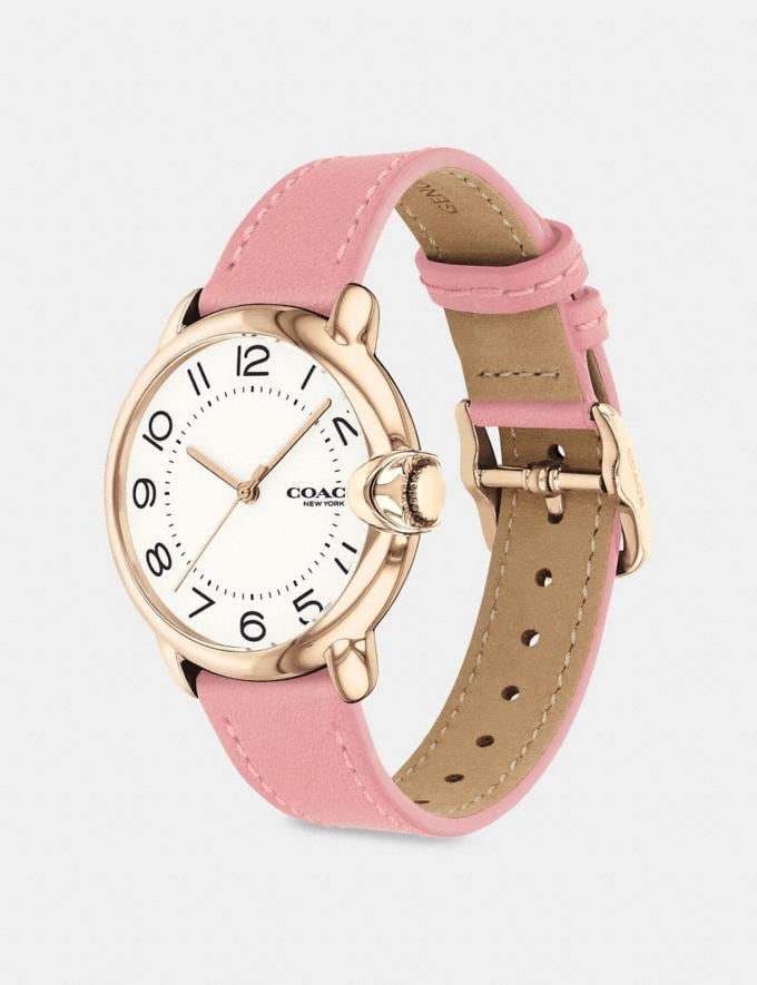 Coach Arden Watch, 36mm Pink Women Accessories Watches Alternate View 1