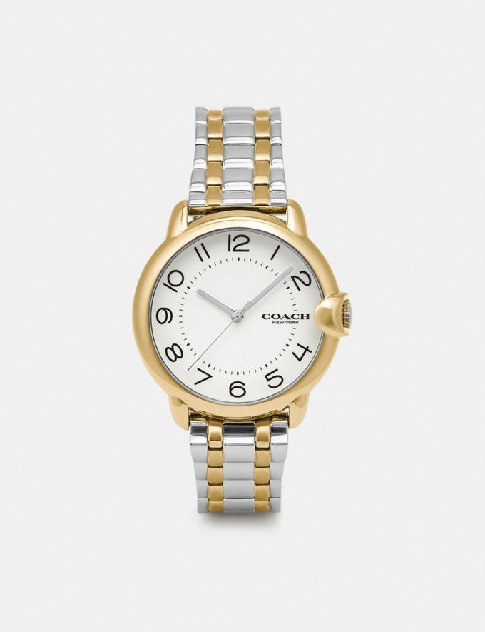 Coach Arden Watch, 36mm Two Tone Women Accessories Watches