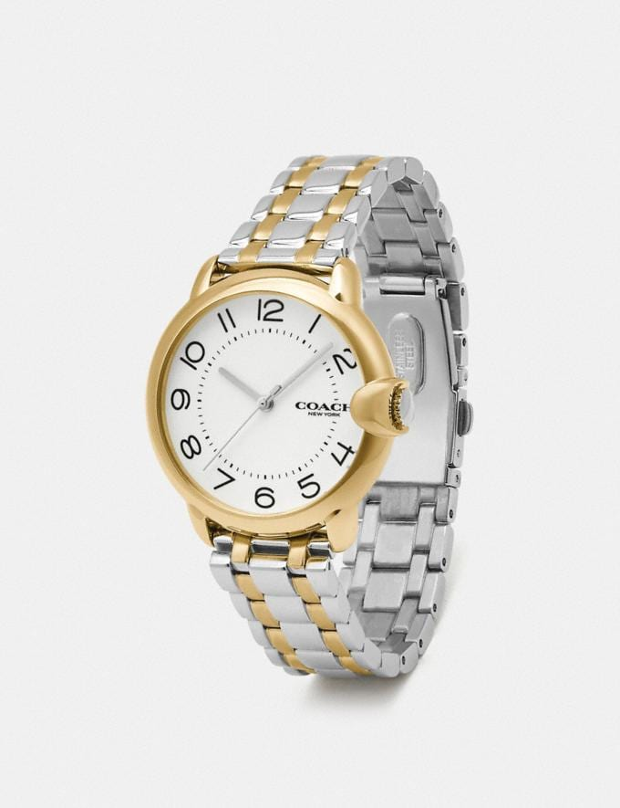 Coach Arden Watch, 36mm Two Tone Women Accessories Watches Alternate View 1