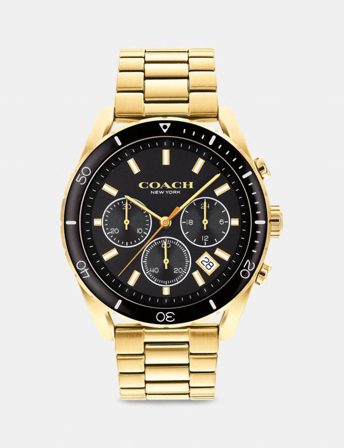 Coach Preston Watch, 44mm Gold Uomo Accessori Orologi