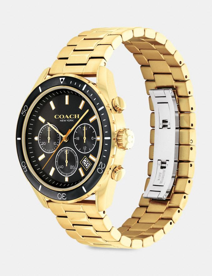 Coach Preston Watch, 44mm Gold Uomo Accessori Orologi Visualizzazione alternativa 1