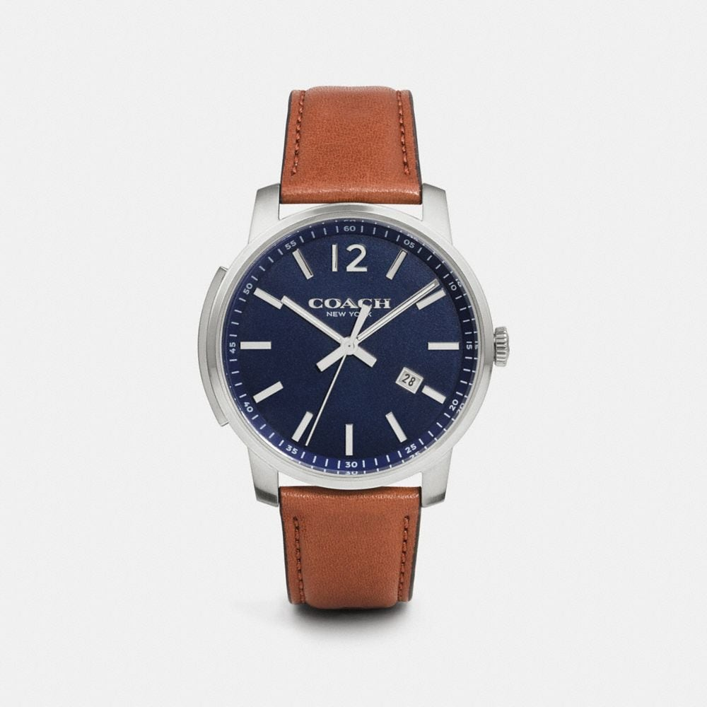 BLEECKER SLIM STAINLESS STEEL STRAP WATCH