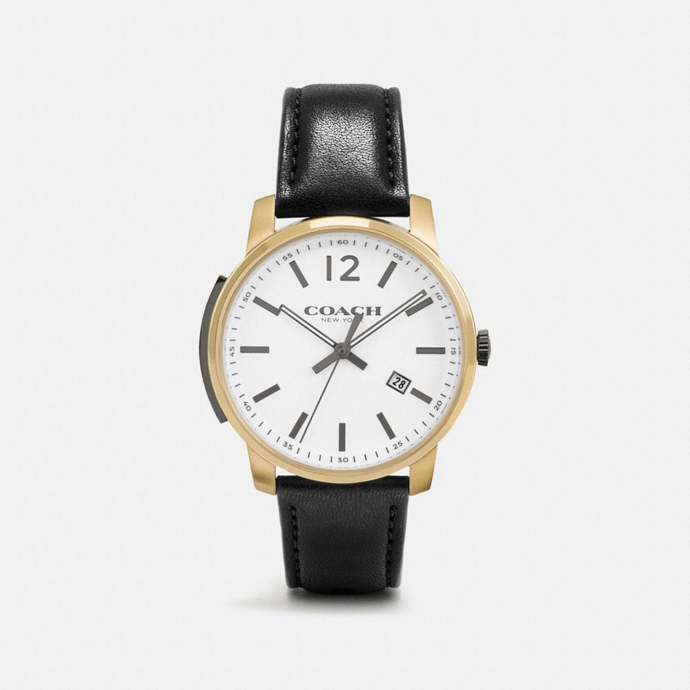 Bleecker Slim Gold Plated Strap Watch