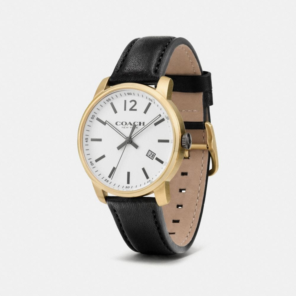 Bleecker Slim Gold Plated Strap Watch - Autres affichages A1