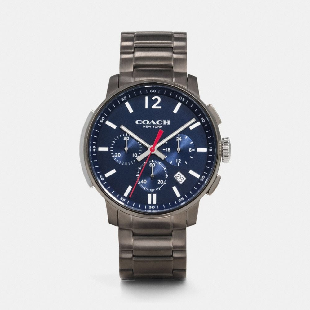 Coach Bleecker Chrono Gunmetal Bracelet Watch
