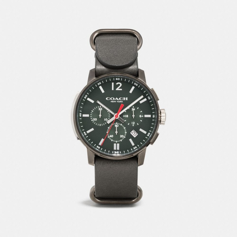 Bleecker Chrono Gunmetal Ionized Plating Strap Watch