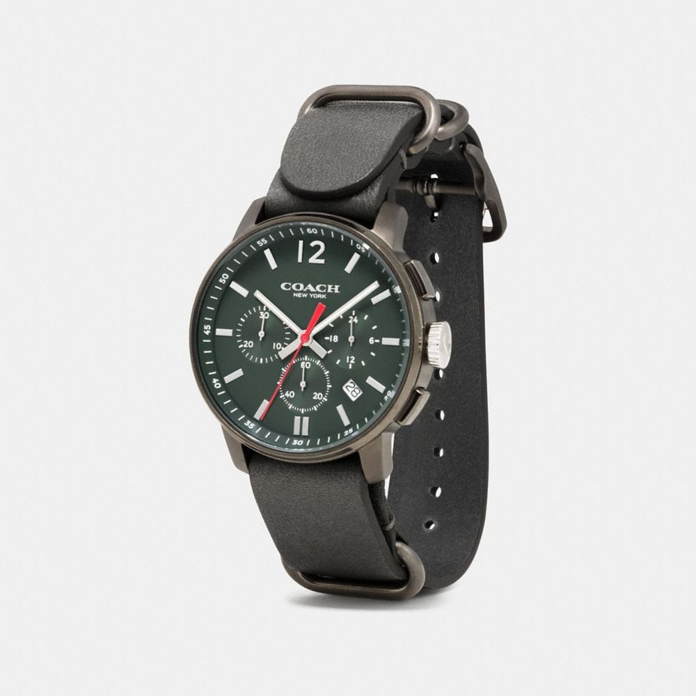 Bleecker Chrono Gunmetal Ionized Plating Strap Watch - Alternate View A1