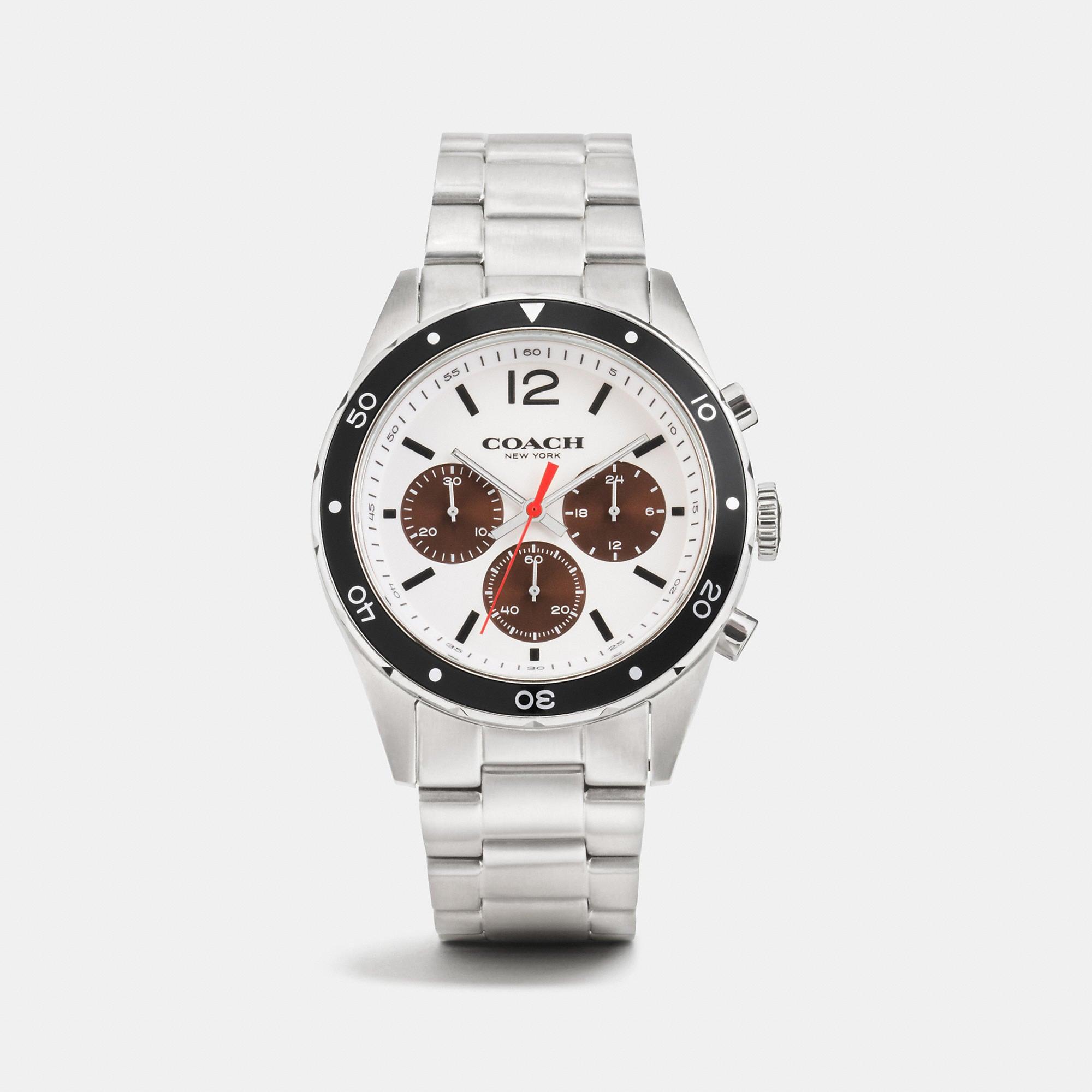 Coach Sullivan Sport Stainless Steel Chrono Bracelet Watch