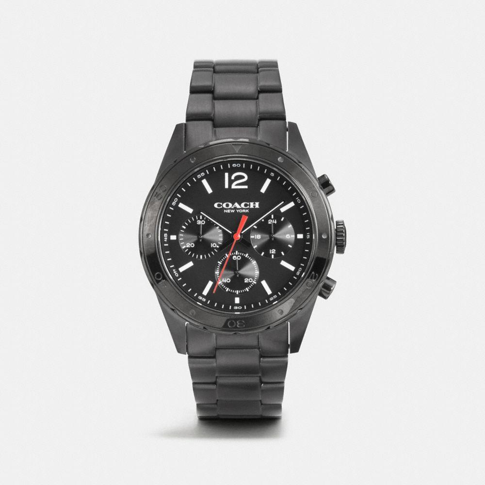 Sullivan Sport Black Ionized Plating Chrono Bracelet Watch