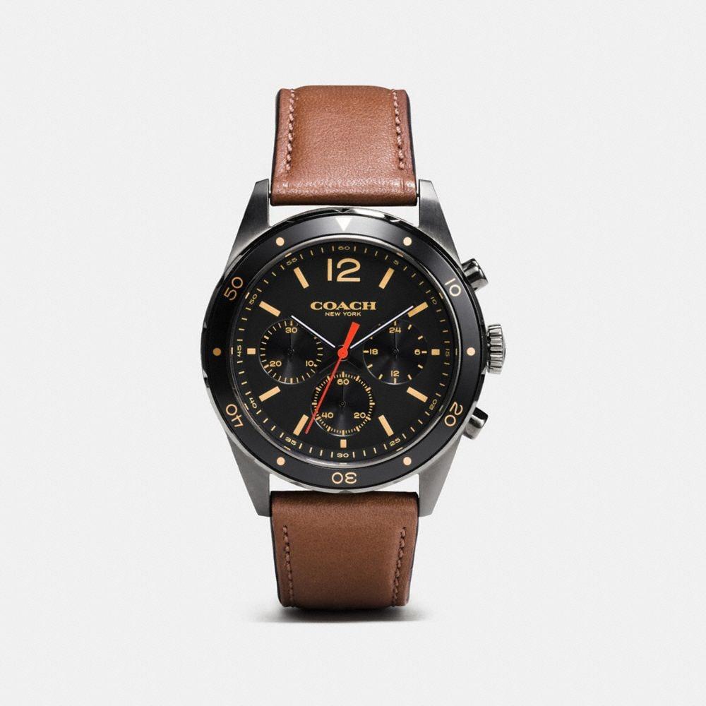 Sullivan Sport Ionized Plated Chrono Strap Watch