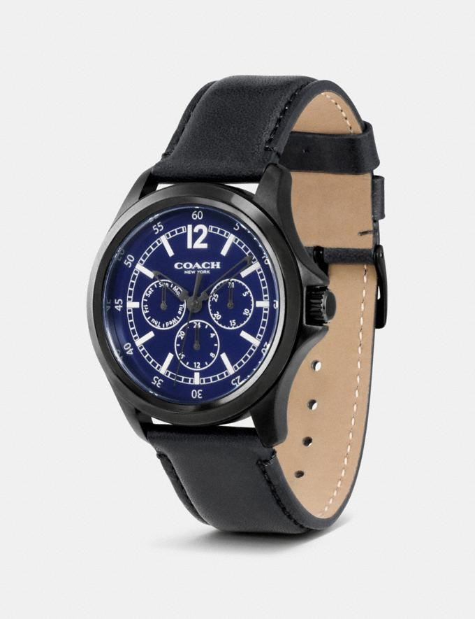 Coach Barrow Multifunction Watch Black/Navy  Alternate View 1