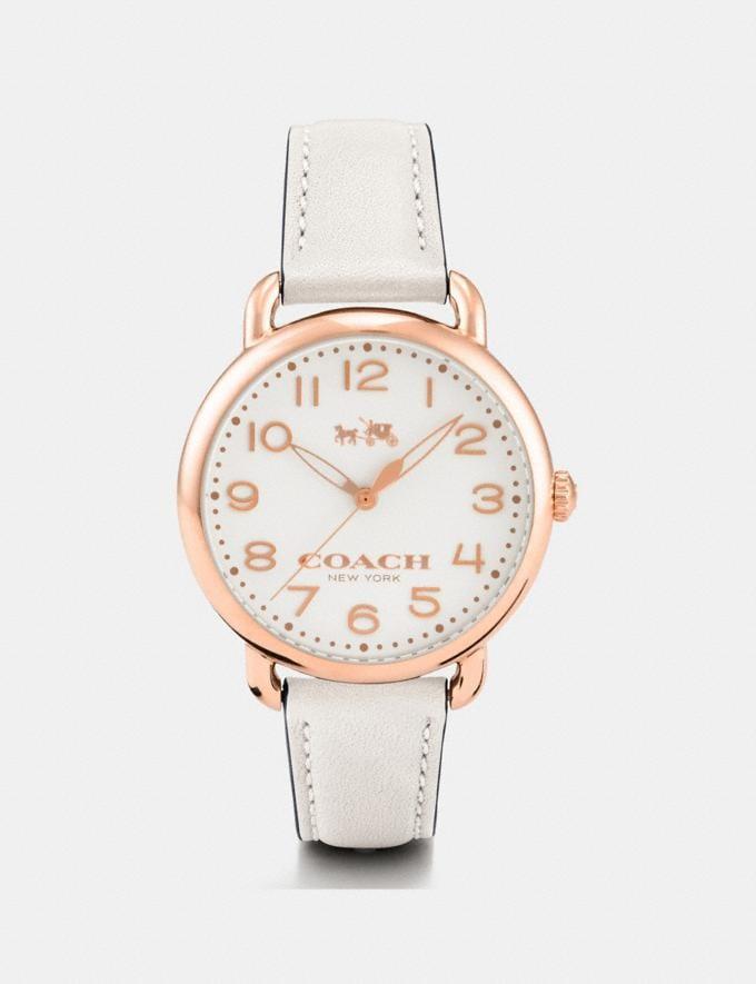 Coach 75th Anniversary Delancey Watch, 36mm Chalk Women Accessories Watches