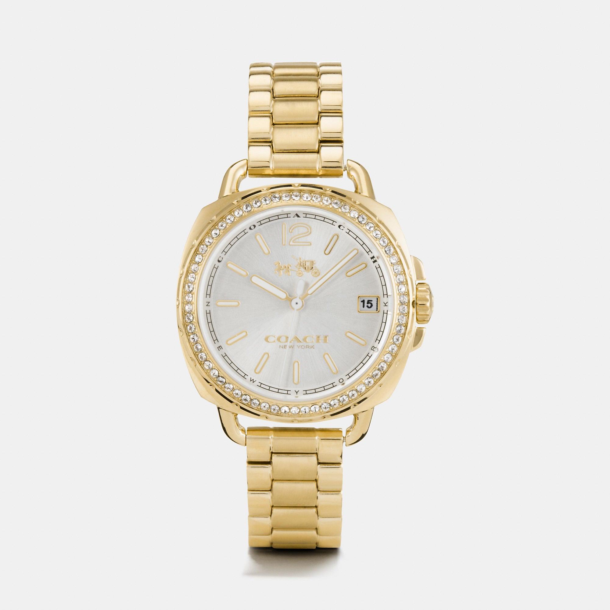 Coach Tatum Gold Tone Sunray Dial Set Bracelet Watch