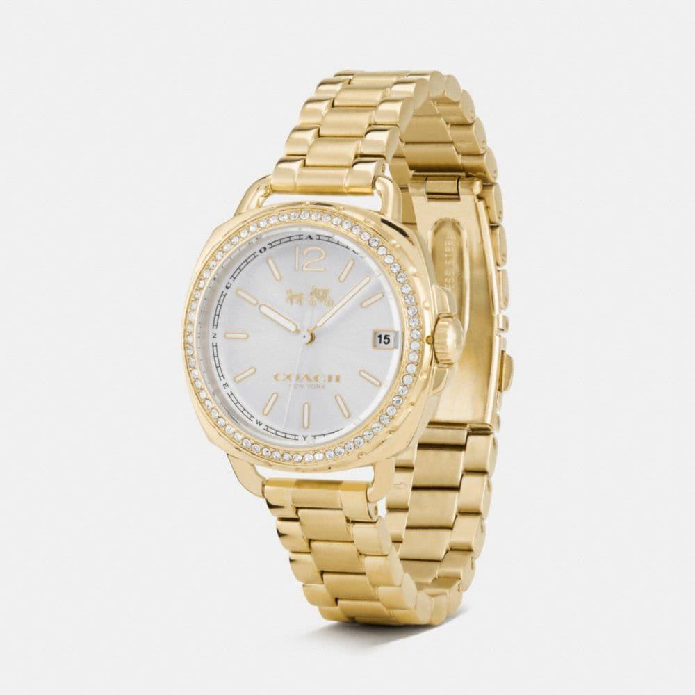 Tatum Gold Tone Sunray Dial Set Bracelet Watch - Alternate View A1