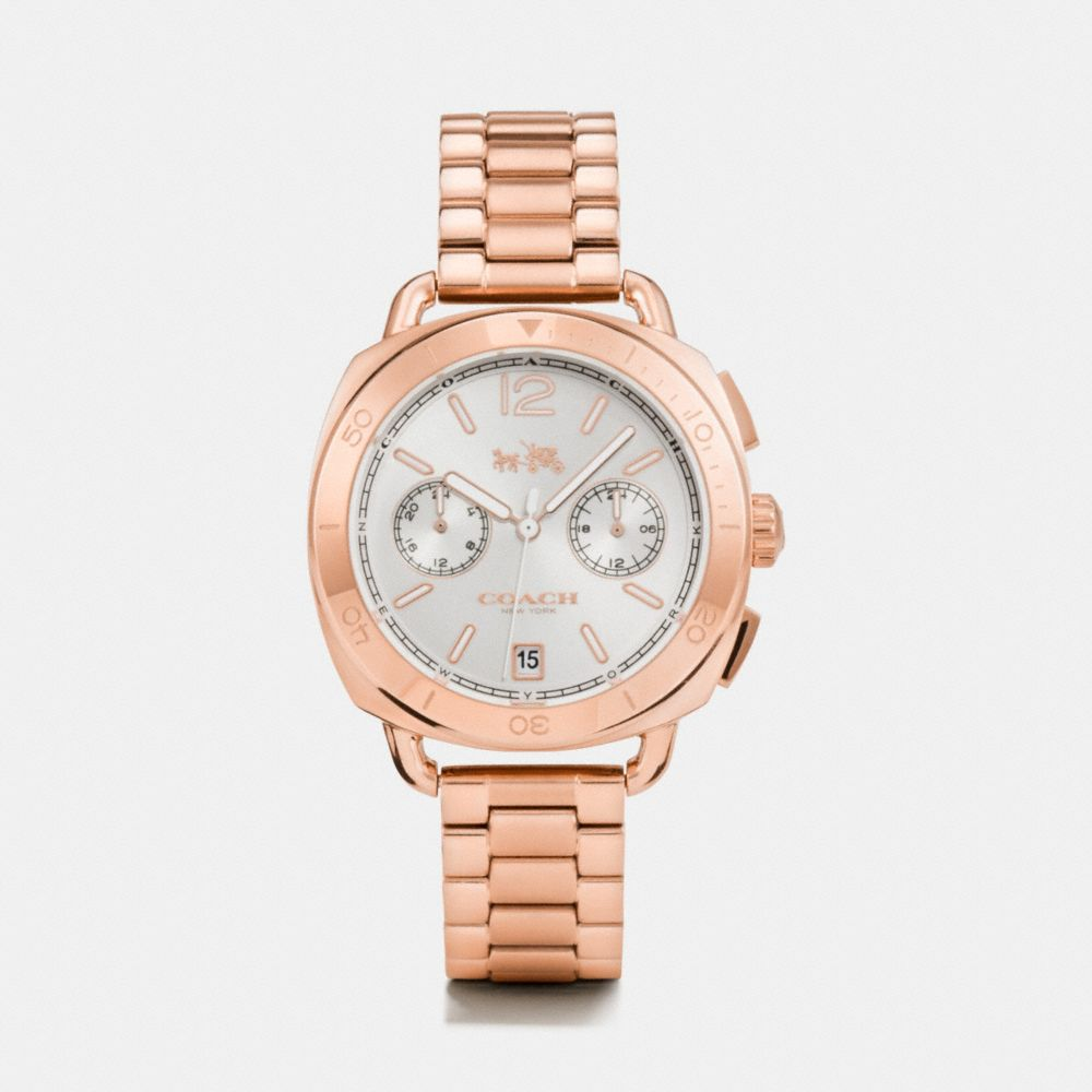 Coach Tatum Rose Gold Tone Sunray Dial Bracelet Watch