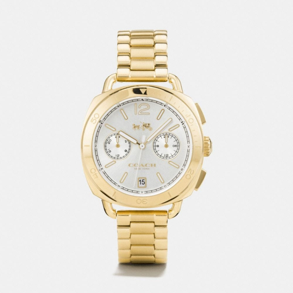 Coach Tatum Gold Tone Sunray Dial Bracelet Watch