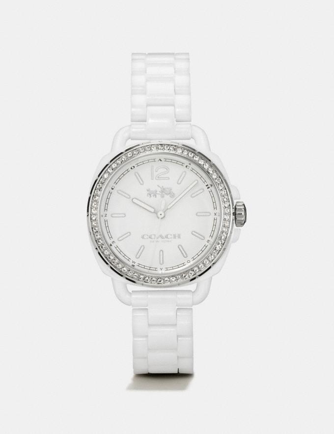Coach Tatum Ceramic Set Bracelet Watch White