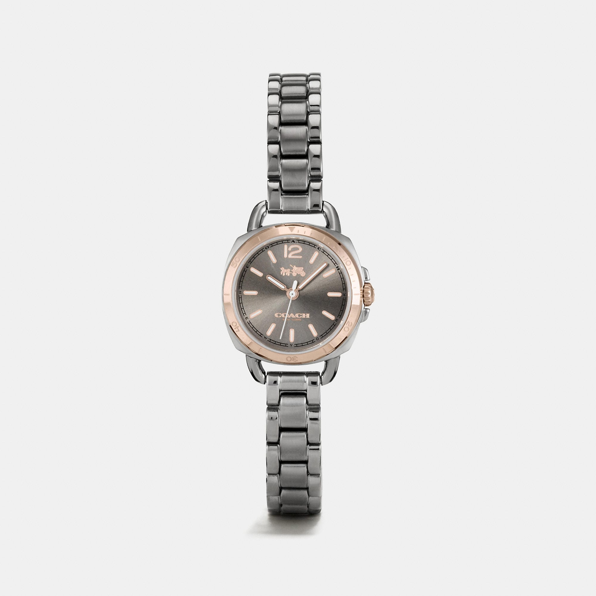 Coach Tatum Grey Ionized Plated Sunray Dial Bracelet Watch