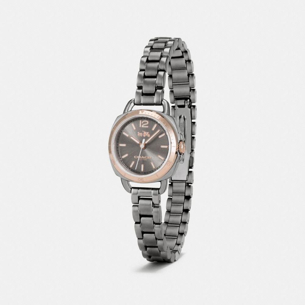 Tatum Grey Ionized Plated Sunray Dial Bracelet Watch - Alternate View A1