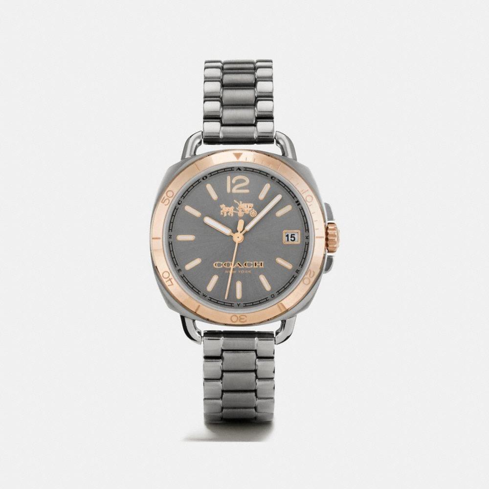 Tatum Grey Ionized Plated Sunray Dial Bracelet Watch