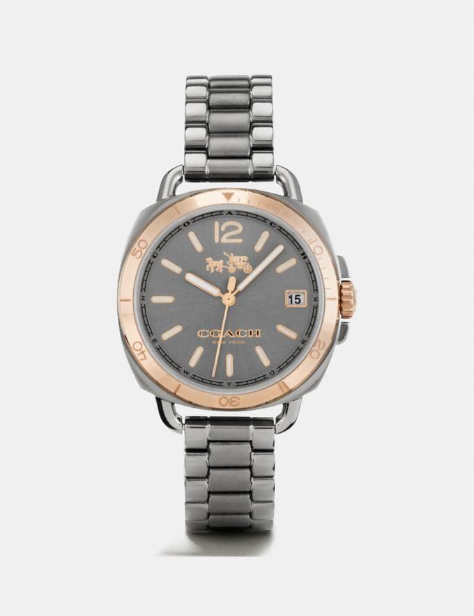 Coach Tatum Grey Ionized Plated Sunray Dial Bracelet Watch Gunmetal