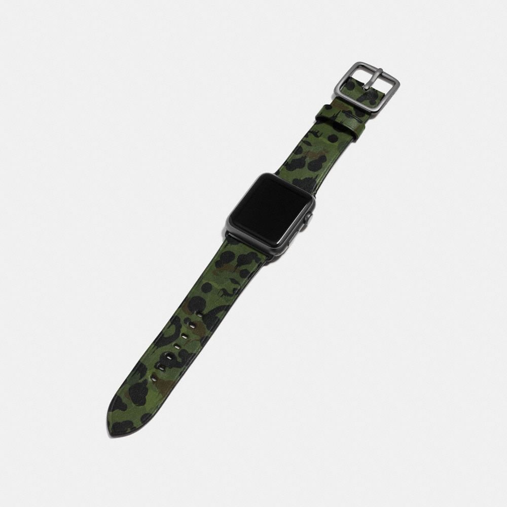 Coach Apple Watch® Strap With Wild Beast Print Alternate View 1