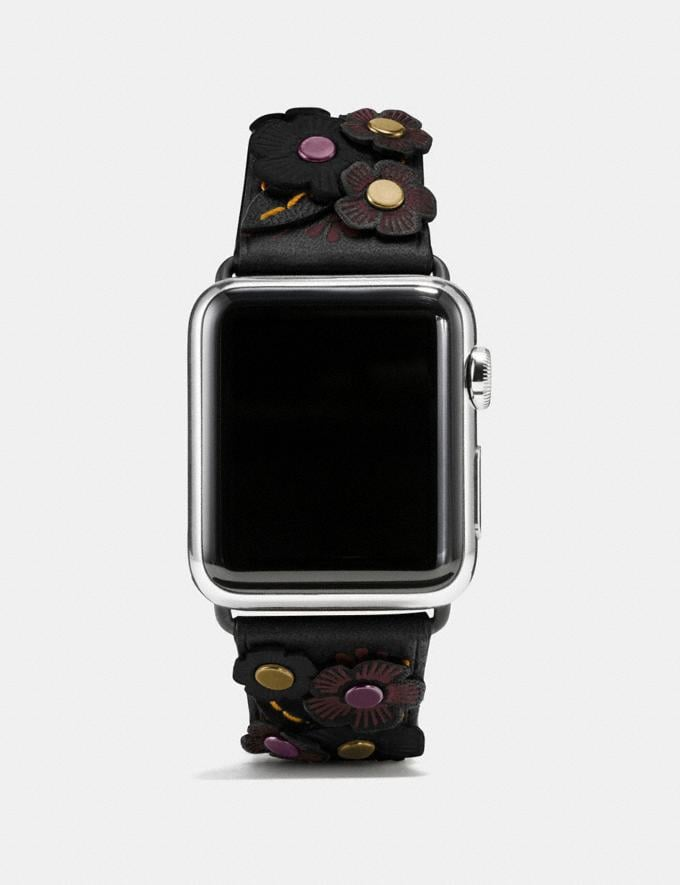 Coach Apple Watch® Strap With Tea Rose Black
