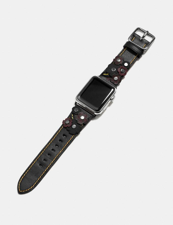 Coach Apple Watch® Strap With Tea Rose Black  Alternate View 1