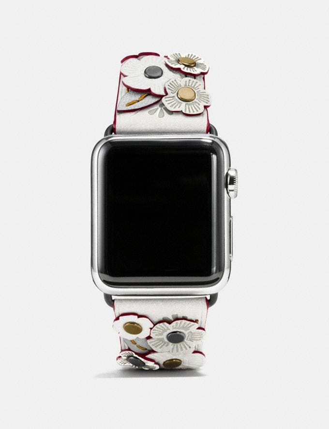 Coach Apple Watch® Strap With Tea Rose Black Women Accessories