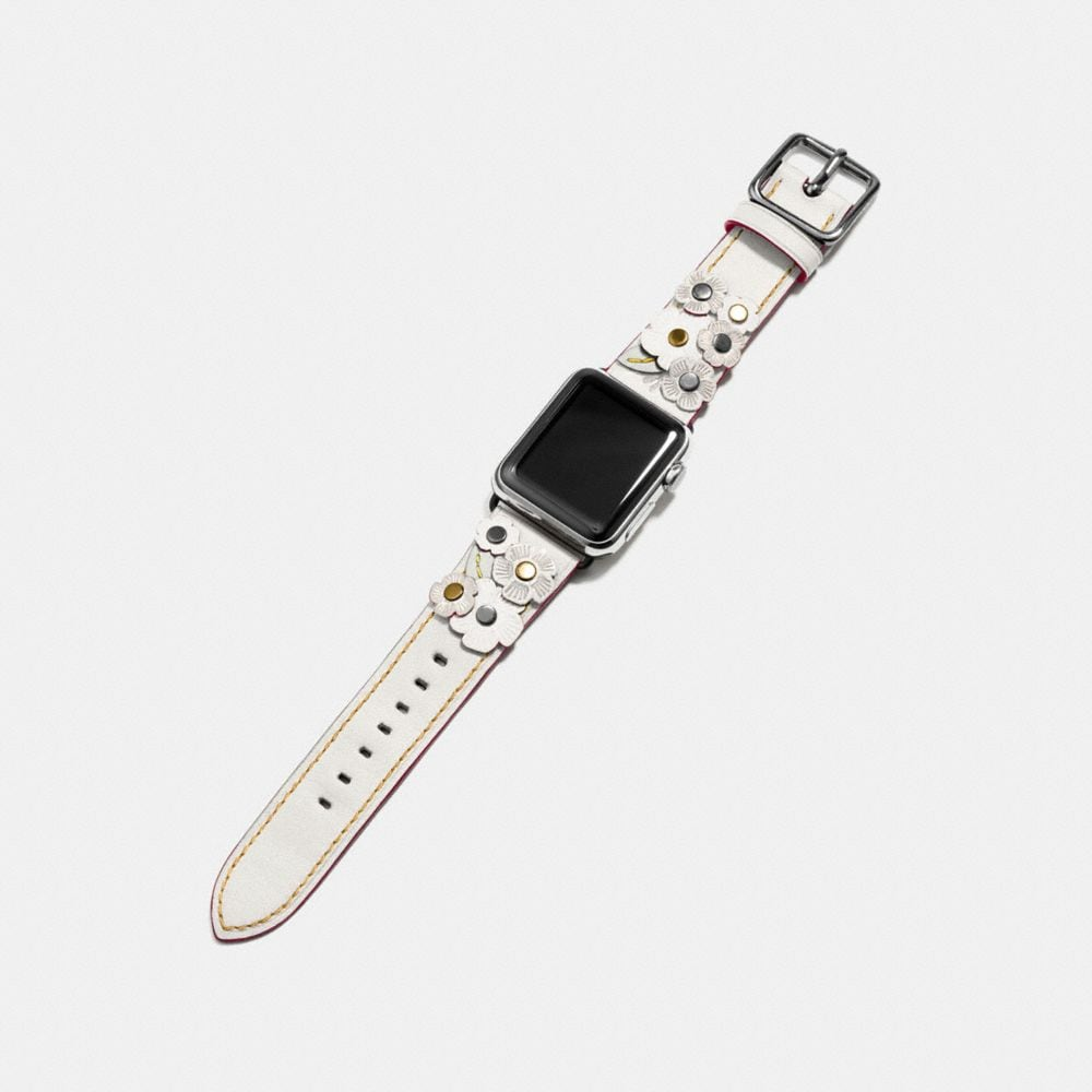Coach Apple Watch® Strap With Tea Rose Alternate View 1