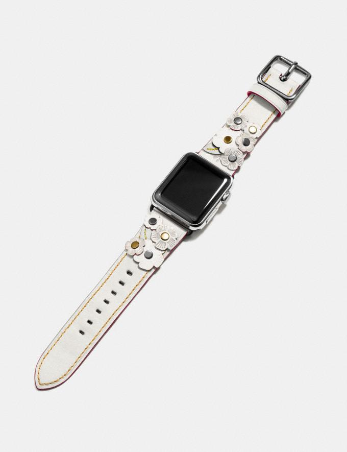 Coach Apple Watch® Strap With Tea Rose Black Women Accessories Alternate View 1