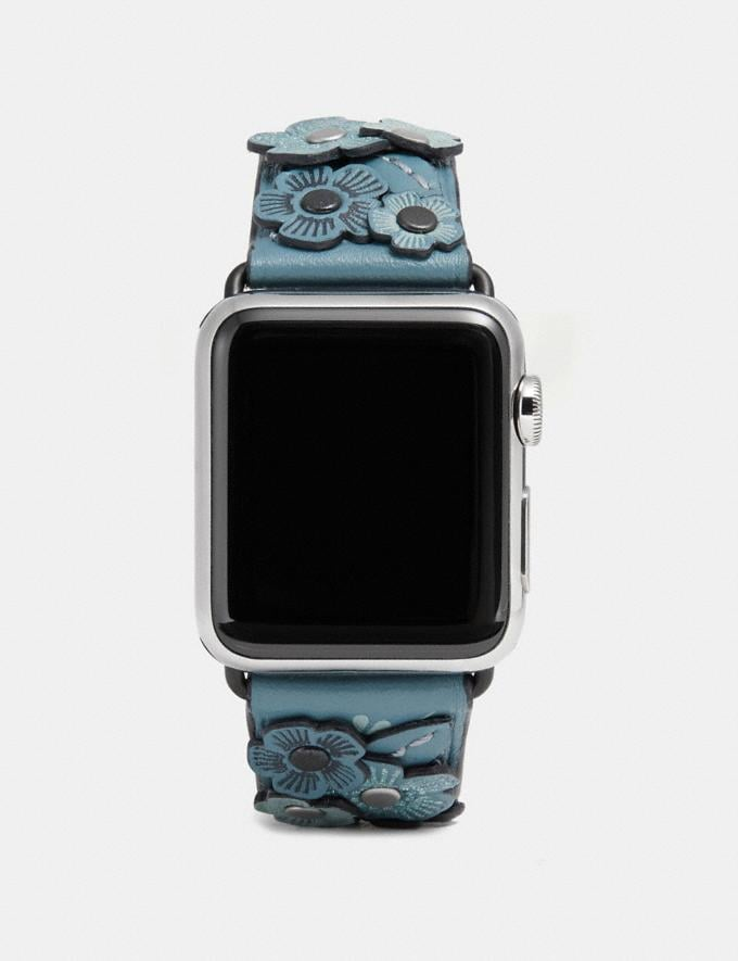 Coach Apple Watch® Strap With Tea Rose Chambray Women Accessories