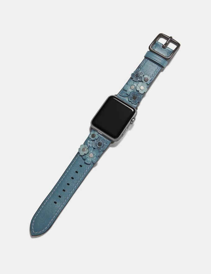 Coach Apple Watch® Strap With Tea Rose Chambray Women Accessories Alternate View 1