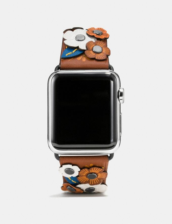 Coach Apple Watch® Strap With Tea Rose Tawny Women Accessories Watches