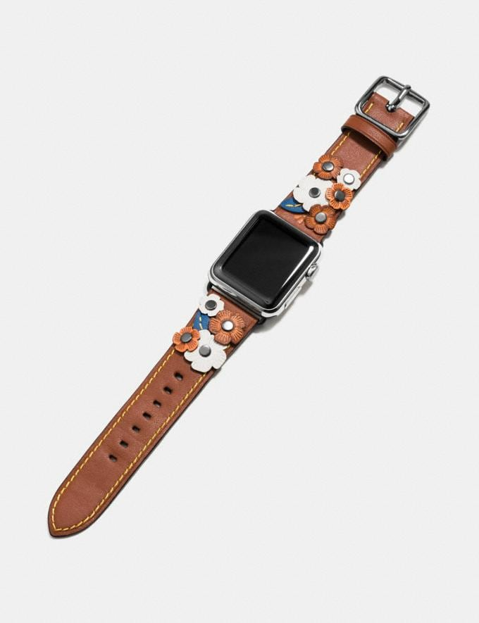 Coach Apple Watch® Strap With Tea Rose Tawny Women Accessories Watches Alternate View 1