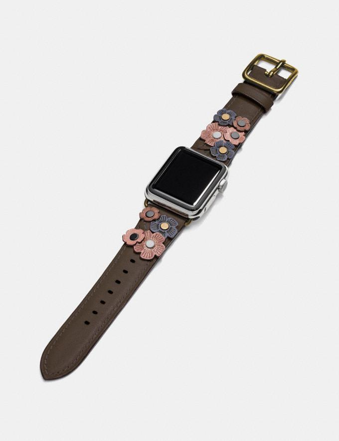 Coach Apple Watch® Strap With Tea Rose Ink  Alternate View 1