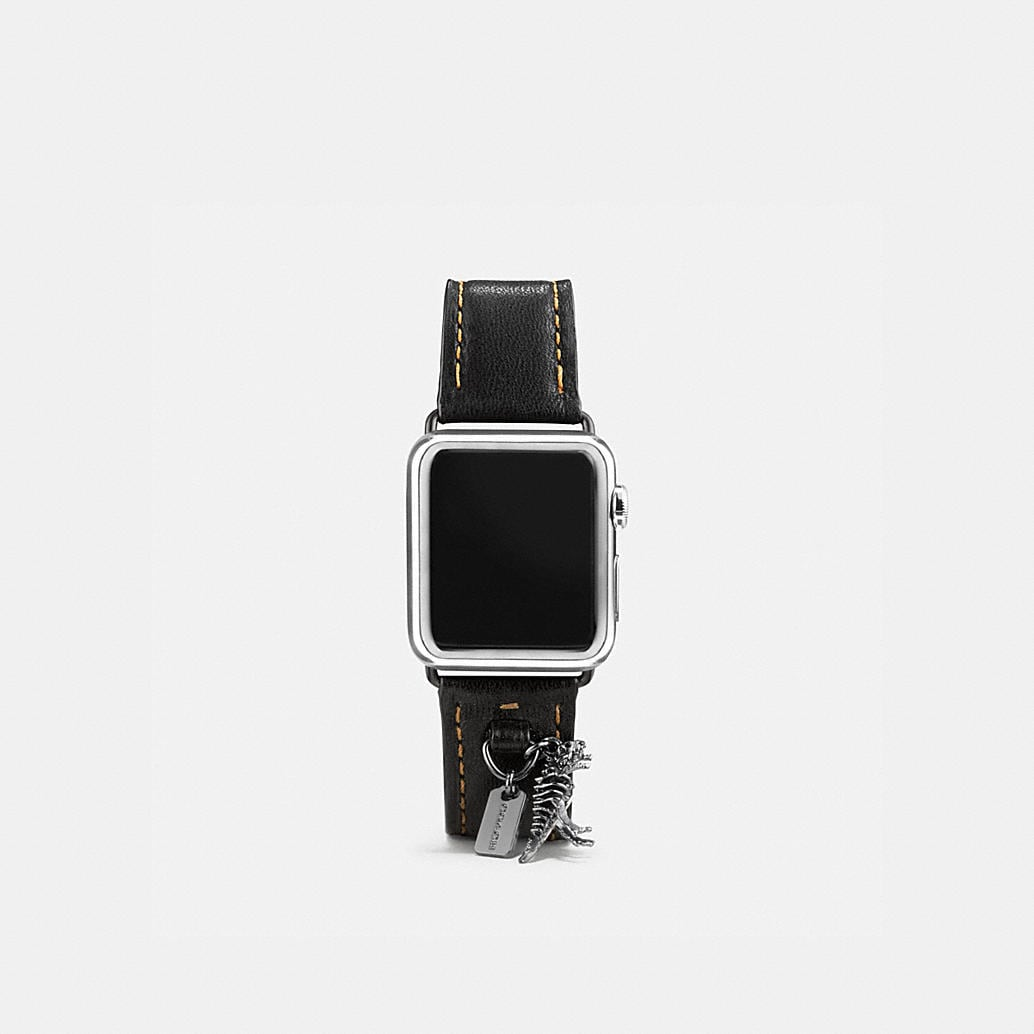 COACH: Apple Watch® Leather Watch Strap With Charms