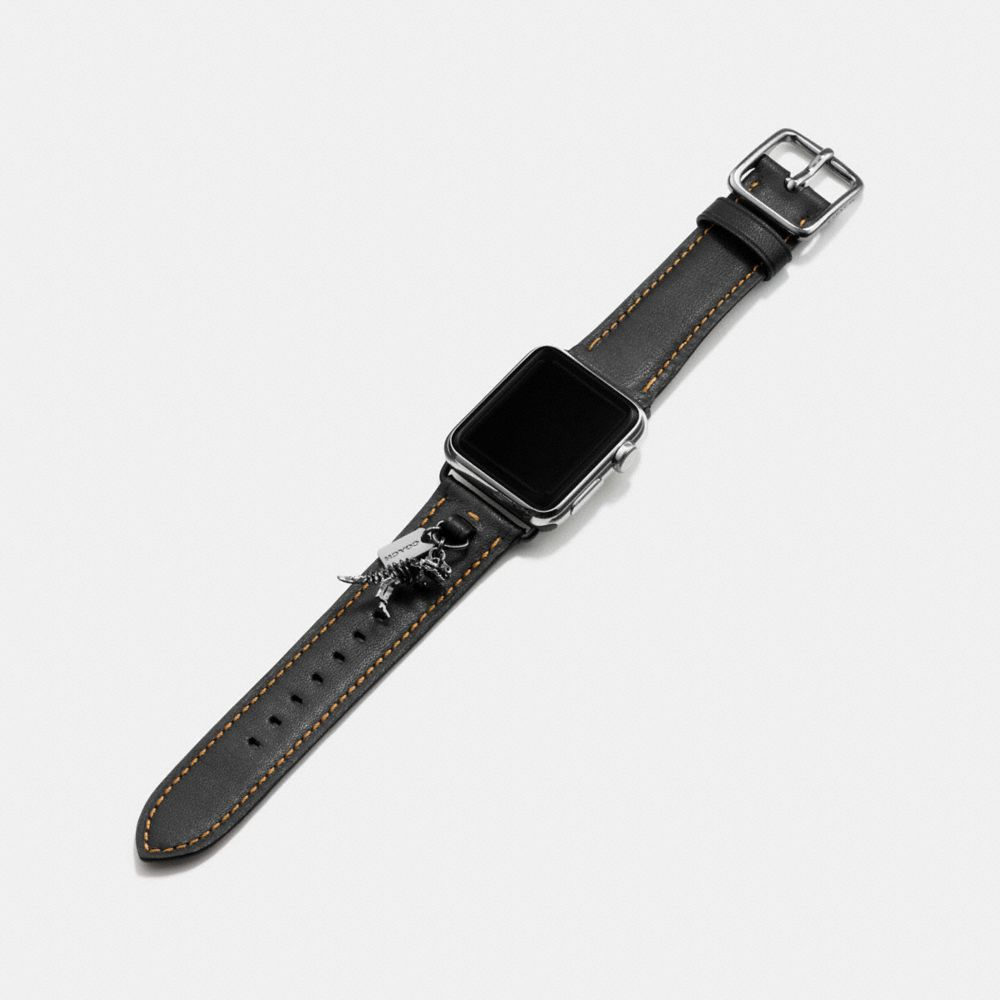 Apple Watch® Leather Watch Strap With Charms - Alternate View A1