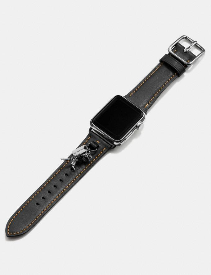 Coach Apple Watch® Armband Mit AnhÄNgern Schwarz  Alternative Ansicht 1
