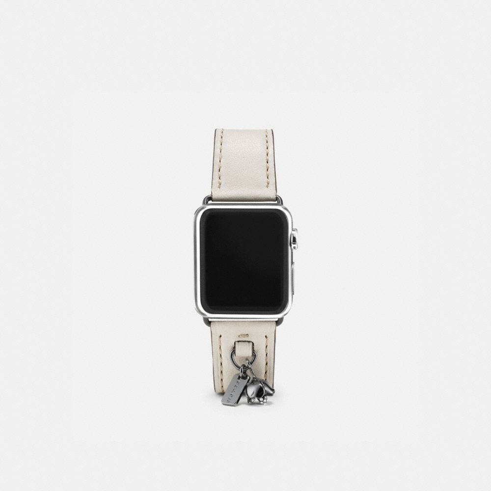 APPLE WATCH® LEATHER WATCH STRAP WITH CHARMS