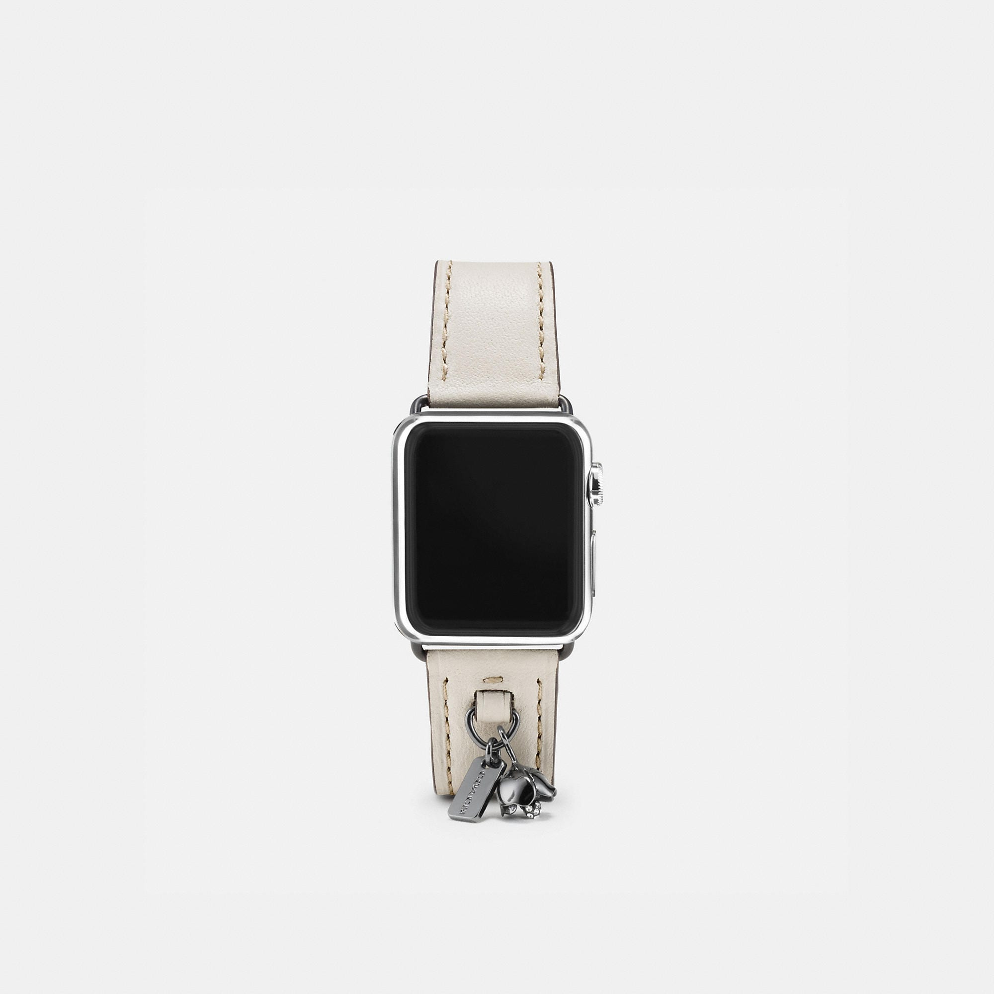 Coach Apple Watch Leather Watch Strap With Charms
