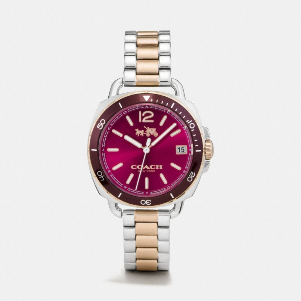 Coach Tatum Two Tone Sunray Dial Bracelet Watch