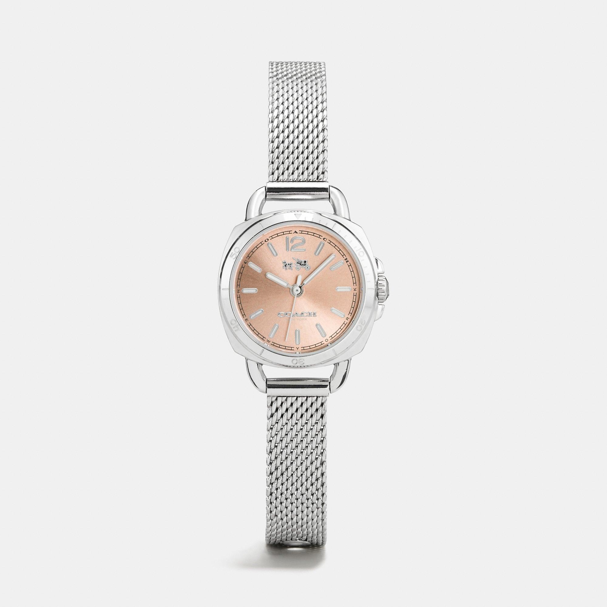 Coach Tatum Stainless Steel Sunray Dial Mesh Bracelet Watch