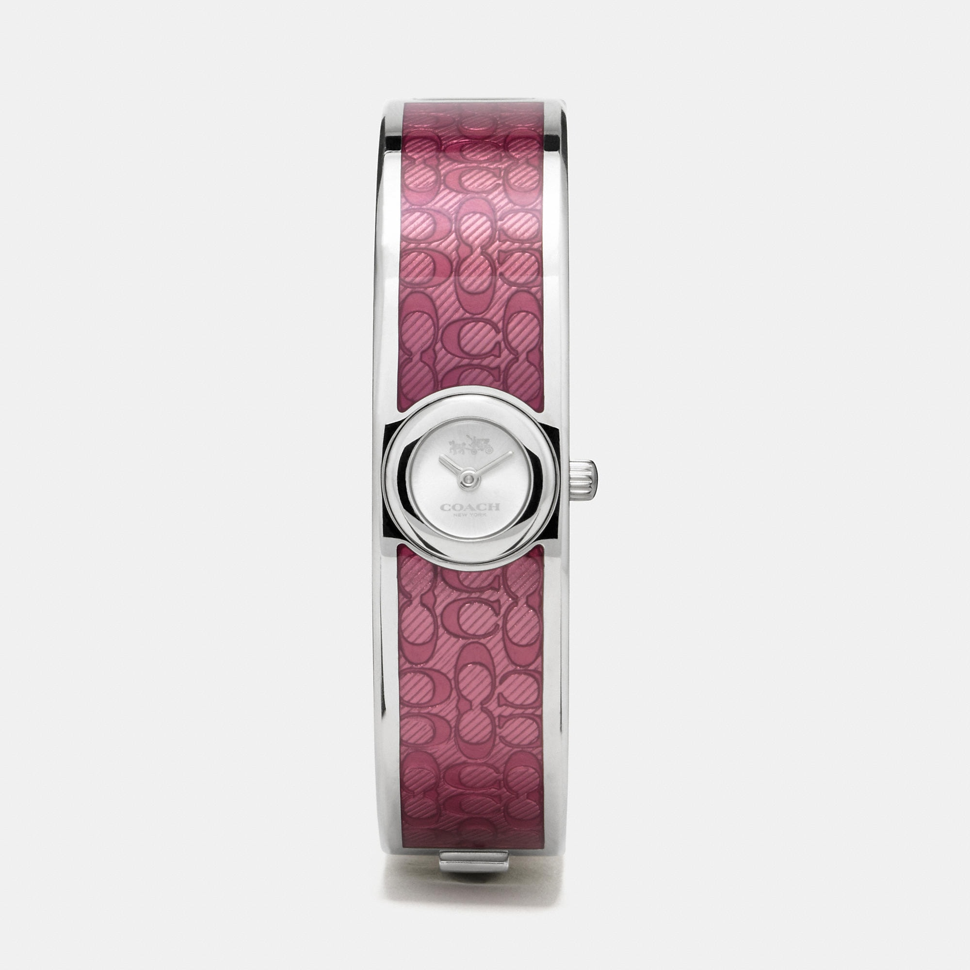 Coach Scout Stainless Steel Sunray Dial Enamel Signature C Bangle Watch