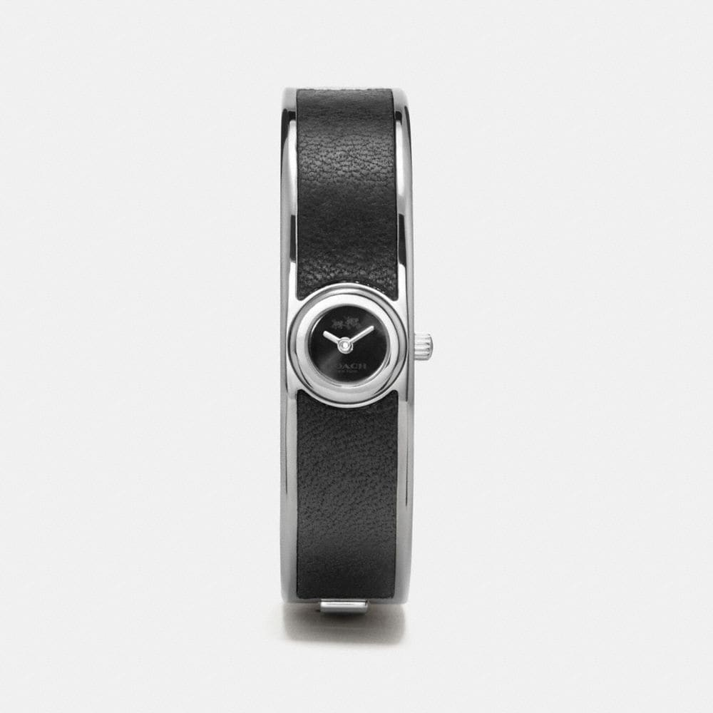 Coach Scout Stainless Steel Leather Bangle Watch