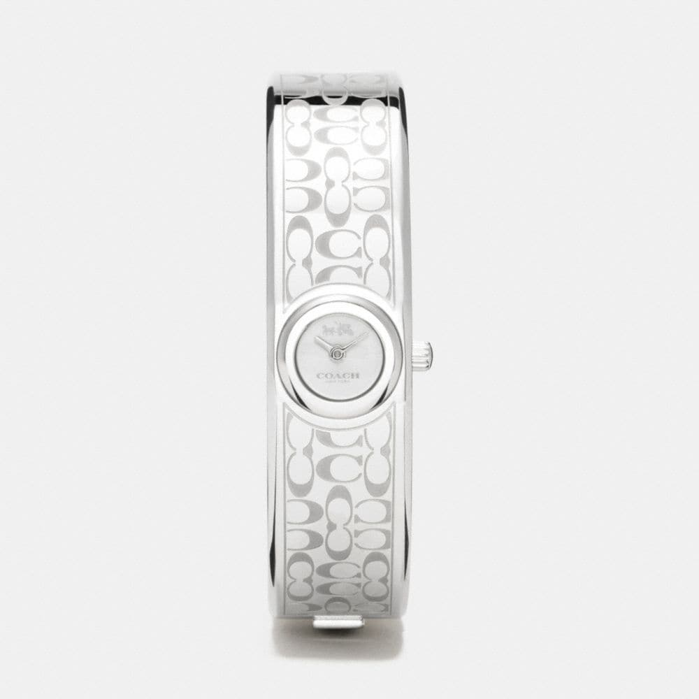 Coach Scout Stainless Steel Sunray Dial Signature C Bangle Watch